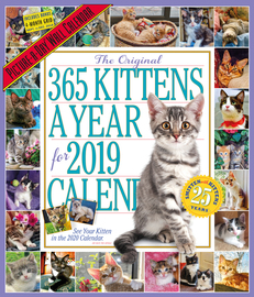 The 365 Kittens-A-Year Picture-A-Day Wall Calendar 2019 - cover