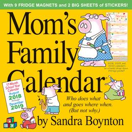 Mom's Family Wall Calendar 2019 - cover