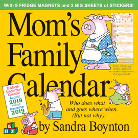 Mom's Family Wall Calendar 2019 - cover
