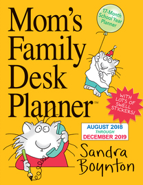 Mom's Family Desk Planner Calendar 2019 - cover