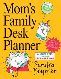 Mom's Family Desk Planner Calendar 2019 - cover