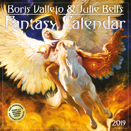 Boris Vallejo & Julie Bell's Fantasy Wall Calendar 2019 - cover