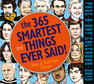 365 Smartest Things Ever Said! Page-A-Day Calendar 2019 - cover