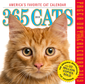 365 Cats Page-A-Day Calendar 2019 - cover