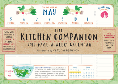 The Kitchen Companion Page-A-Week Calendar 2019 - cover