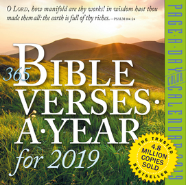 365 Bible Verses-A-Year Page-A-Day Calendar 2019 - cover