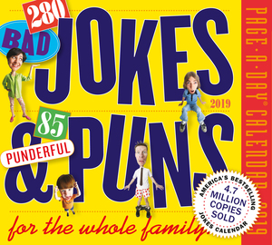 280 Bad Jokes & 85 Punderful Puns Page-A-Day Calendar 2019 - cover