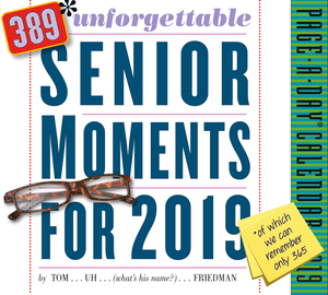 389* Unforgettable Senior Moments Page-A-Day Calendar 2019 - cover