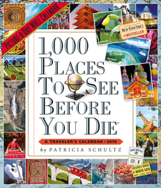 1,000 Places to See Before You Die Picture-A-Day Wall Calendar 2019 - cover