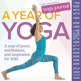 A Year of Yoga Page-A-Day Calendar 2019 - cover