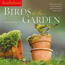 Audubon Birds in the Garden Wall Calendar 2019 - cover