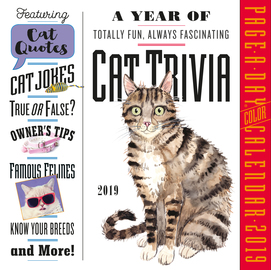 Cat Trivia Page-A-Day Calendar 2019 - cover