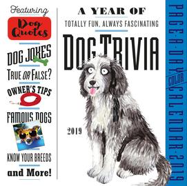 Dog Trivia Page-A-Day Calendar 2019 - cover