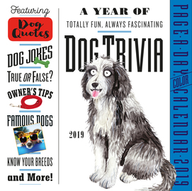 Dog Trivia Page-A-Day Calendar 2019 - cover