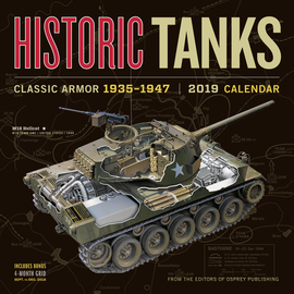 Historic Tanks Wall Calendar 2019 - cover