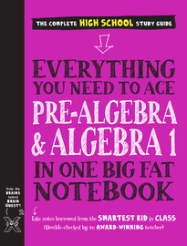 Everything You Need to Ace Pre-Algebra and Algebra I in One Big Fat Notebook - cover