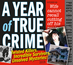 A Year of True Crime Page-A-Day Calendar 2019 - cover