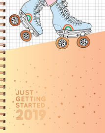 Just Getting Started 17-Month Large Planner 2019 - cover