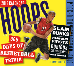 Hoops: 365 Days of Basketball Trivia! Page-A-Day Calendar 2019 - cover