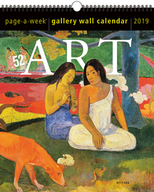 Art Page-A-Week Gallery Wall Calendar 2019 - cover