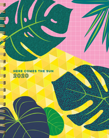 Here Comes the Sun 17-Month Large Planner with 1000+ Stickers 2019-2020 - cover