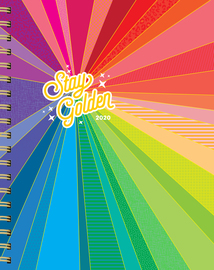 Stay Golden 17-Month Large Planner with 1000+ Stickers 2019-2020 - cover