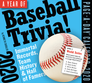 A Year of Baseball Trivia! Page-A-Day Calendar 2020 - cover