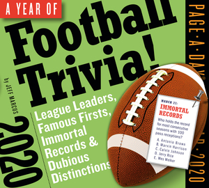 Year of Football Trivia! Page-A-Day Calendar 2020 - cover