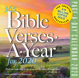 365 Bible Verses-A-Year Page-A-Day Calendar 2020 - cover