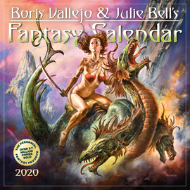 Boris Vallejo & Julie Bell's Fantasy Wall Calendar 2020 - cover