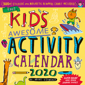Kid's Awesome Activity Wall Calendar 2020 - cover