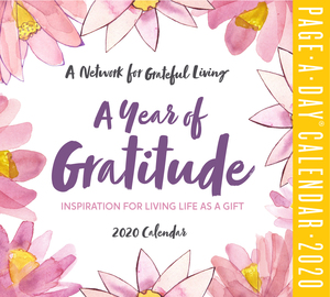 A Year of Gratitude Page-A-Day Calendar 2020 - cover