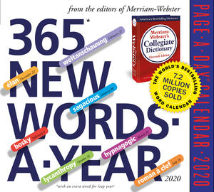 365 New Words-A-Year Page-A-Day Calendar 2020 - cover