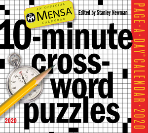Mensa 10-Minute Crossword Puzzles Page-A-Day Calendar 2020 - cover