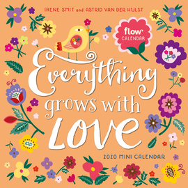 Everything Grows with Love Mini Wall Calendar 2020 - cover
