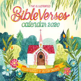 Illustrated Bible Verses Wall Calendar 2020 - cover