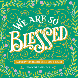 We Are So Blessed Mini Wall Calendar 2020 - cover
