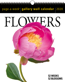 Flowers Page-A-Week Gallery Wall Calendar 2020 - cover