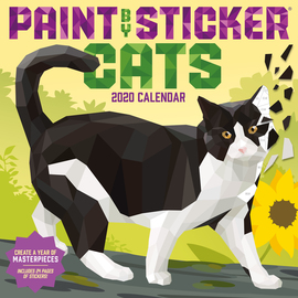 Paint by Sticker Cats Wall Calendar 2020 - cover