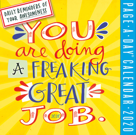You Are Doing a Freaking Great Job Page-A-Day Calendar 2020 - cover