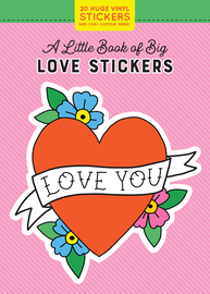 20 Huge Love Stickers! A Little Book of Big Stickers - cover