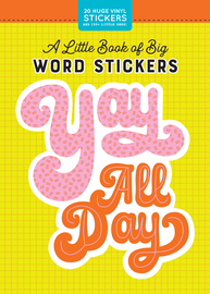 A Little Book of Big Word Stickers - cover
