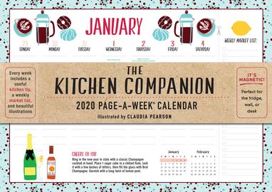 Kitchen Companion Page-A-Week Calendar 2020 - cover
