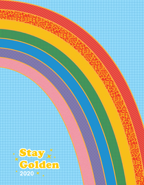 Stay Golden 17-Month Personal Planner with 500+ Stickers 2019-2020 - cover