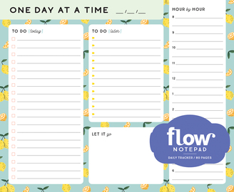 One Day at a Time Daily List Pad - cover