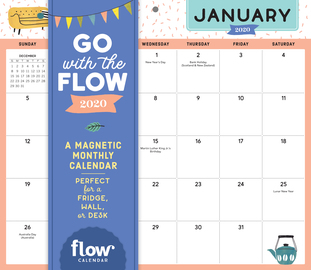 Go with the Flow Desk Calendar 2020 - cover