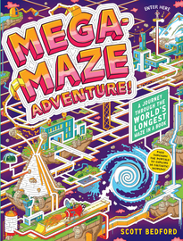Mega-Maze Adventure! (Maze Activity Book for Kids Ages 7+) - cover