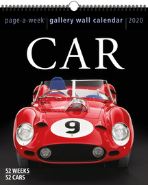 Car Page-A-Week Gallery Wall Calendar 2020 - cover