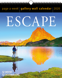 Escape Page-A-Week Gallery Wall Calendar 2020 - cover