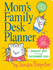 Mom's Family Desk Planner Calendar 2020 - cover